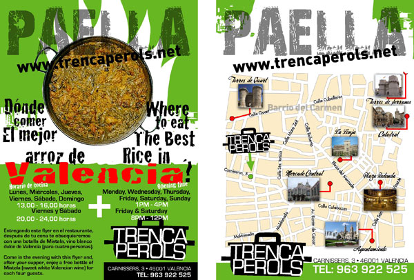 Flyer restaurante Trencaperols