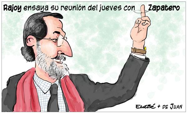 Reunión de Rajoy comn ZP