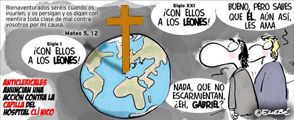 Violentos contra la Iglesia