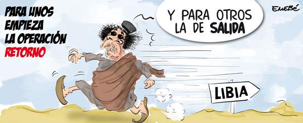 La Primavera Árabe llega a la Libia de Gadafi