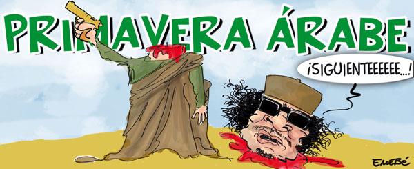 Gadafi violentamente ejecutado