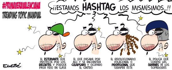 Primavera Valenciana, hashtag mundial