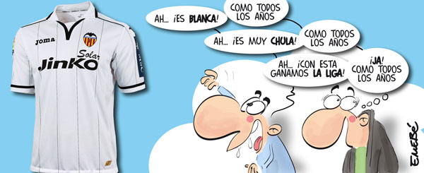 La nueva camiseta del Valencia CF es… ¡blanca!