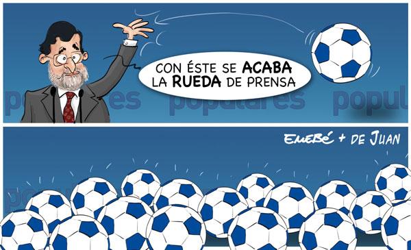 Rajoy, balones fuera