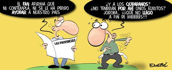 El FMI niega un plan de ayuda a España