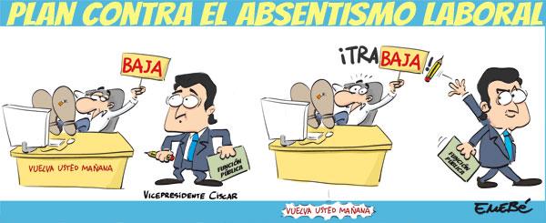 El plan contra el absentismo laboral en la función pública valenciana