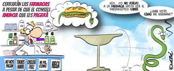Las farmacias valencianas cierran porque no cobran