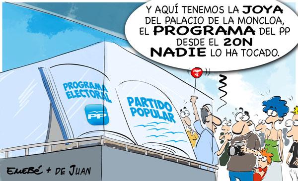 El desaparecido programa electoral del PP