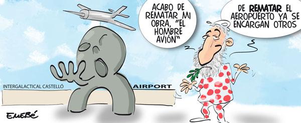 El primer avión del aeropuerto de Castellón