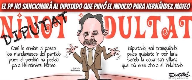 No habrá represalias por pedir el indulto para Hernández Mateo