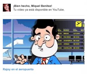 Rajoy en el aeropuerto
