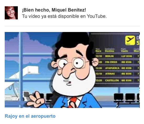 Mariano Rajoy intenta coger el avión
