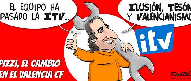 El València CF passa l'ITV amb Pizzi